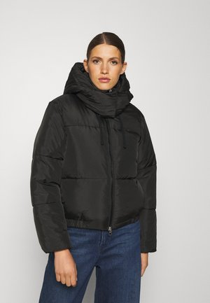 MOON HOODED PUFFER JACKET - Winter jacket - black