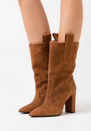 CANDICE - High heeled boots - cognac