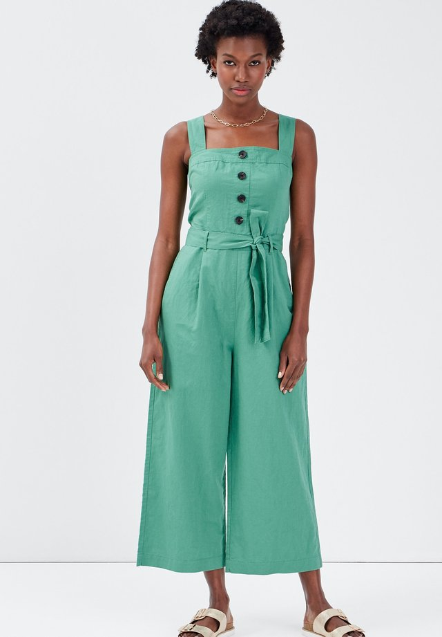 MIT GÜRTEL - Jumpsuit - light green