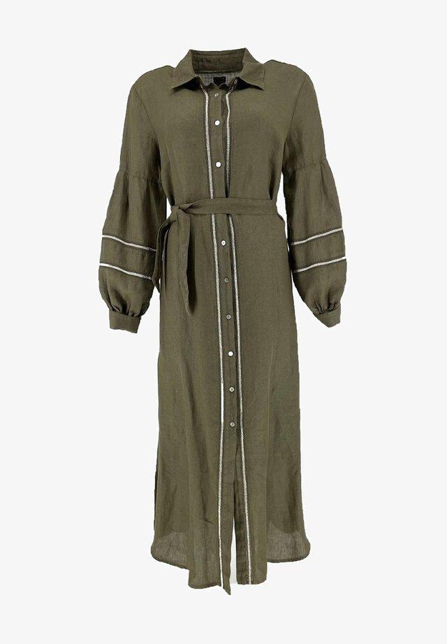 VULCANO - Shirt dress - olive