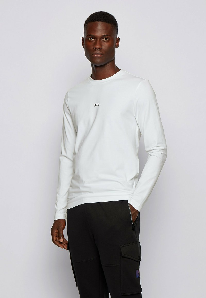 BOSS - TCHARK - Long sleeved top - white
