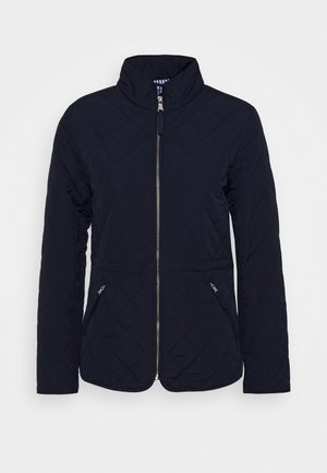 QUILTED FITTED JACKET - Light jacket - evening blue
