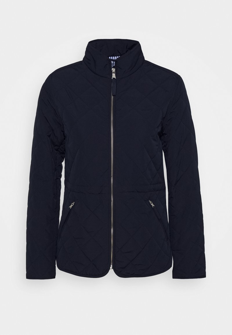 GANT - QUILTED FITTED JACKET - Light jacket - evening blue