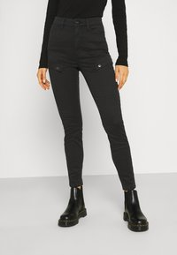 G-Star - BLOSSITE ARMY ULTRA HIGH SKINNY WMN - Trousers - dk black gd - 0