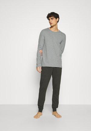 LOUNGESET CREW-NECK - Pyjamas - grau-melange