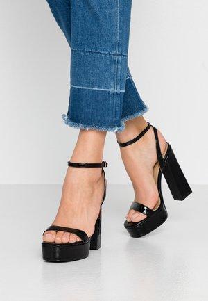 GIANNA - Sandaler med høye hæler - black