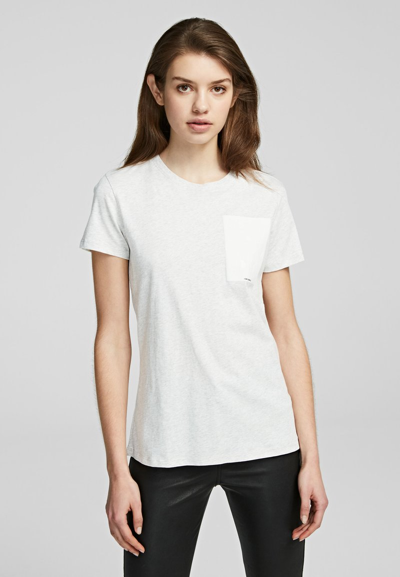 KARL LAGERFELD - Camiseta básica - light grey melange