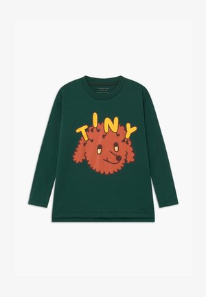 TINY DOG TEE UNISEX - T-shirts print - dark green/sienna
