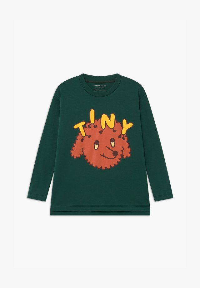 TINY DOG TEE UNISEX - Print T-shirt - dark green/sienna