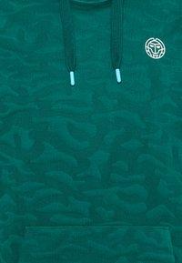 BIDI BADU - HANI LIFESTYLE HOODY - Mikina skapucí - dark green/aqua - 2