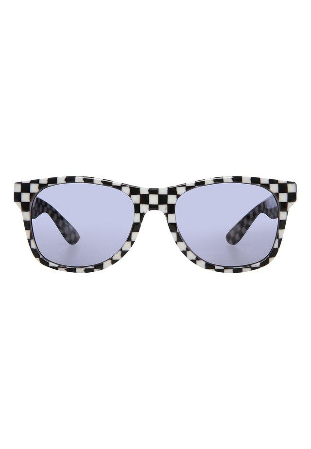 Okulary przeciwsłoneczne - black-white check-flame