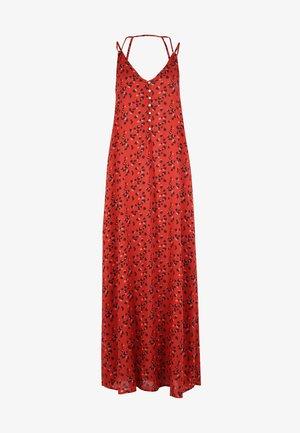 Maxi dress - mottled red