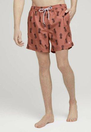 Swimming shorts - orange navy pineapple print