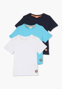 s.Oliver - 3 PACK - Basic T-shirt - navy/turquoise/white - 2