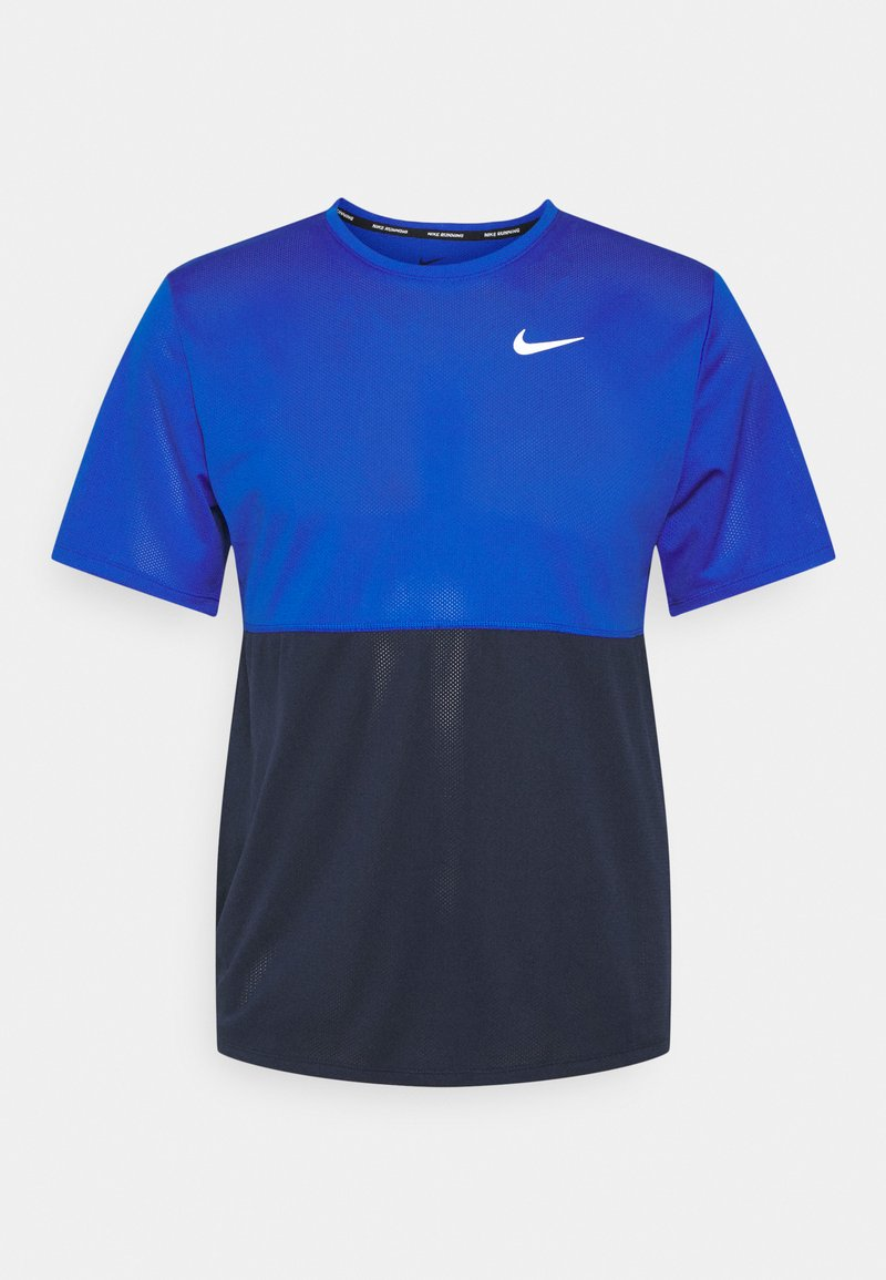 Nike Performance - RUN  - T-shirt print - game royal/obsidian/silver