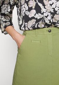 Marc O'Polo - SKIRT CHINO STYLE SHORT LENGTH - A-line skirt - seaweed green