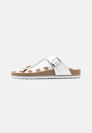 T-bar sandals - silver
