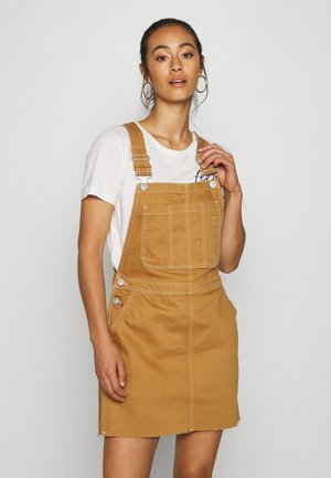 CARPENTER DRESS - Denim dress - sand