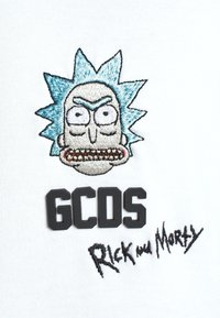 GCDS - OVERSIZE TEE - Print T-shirt - white - 6