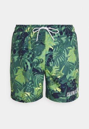 MEDIUM DRAWSTRING PRINT - Swimming shorts - green