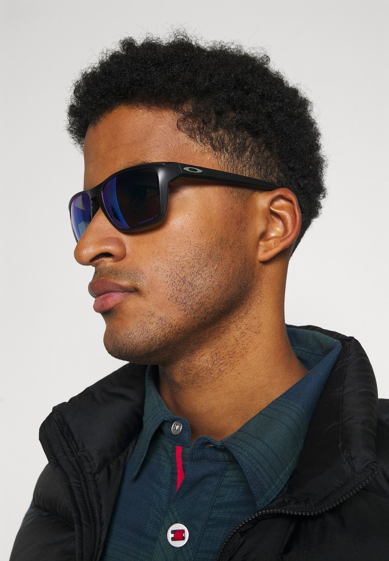 Oakley - SYLAS UNISEX - Sunglasses - matte black w/prizm sapphire polar