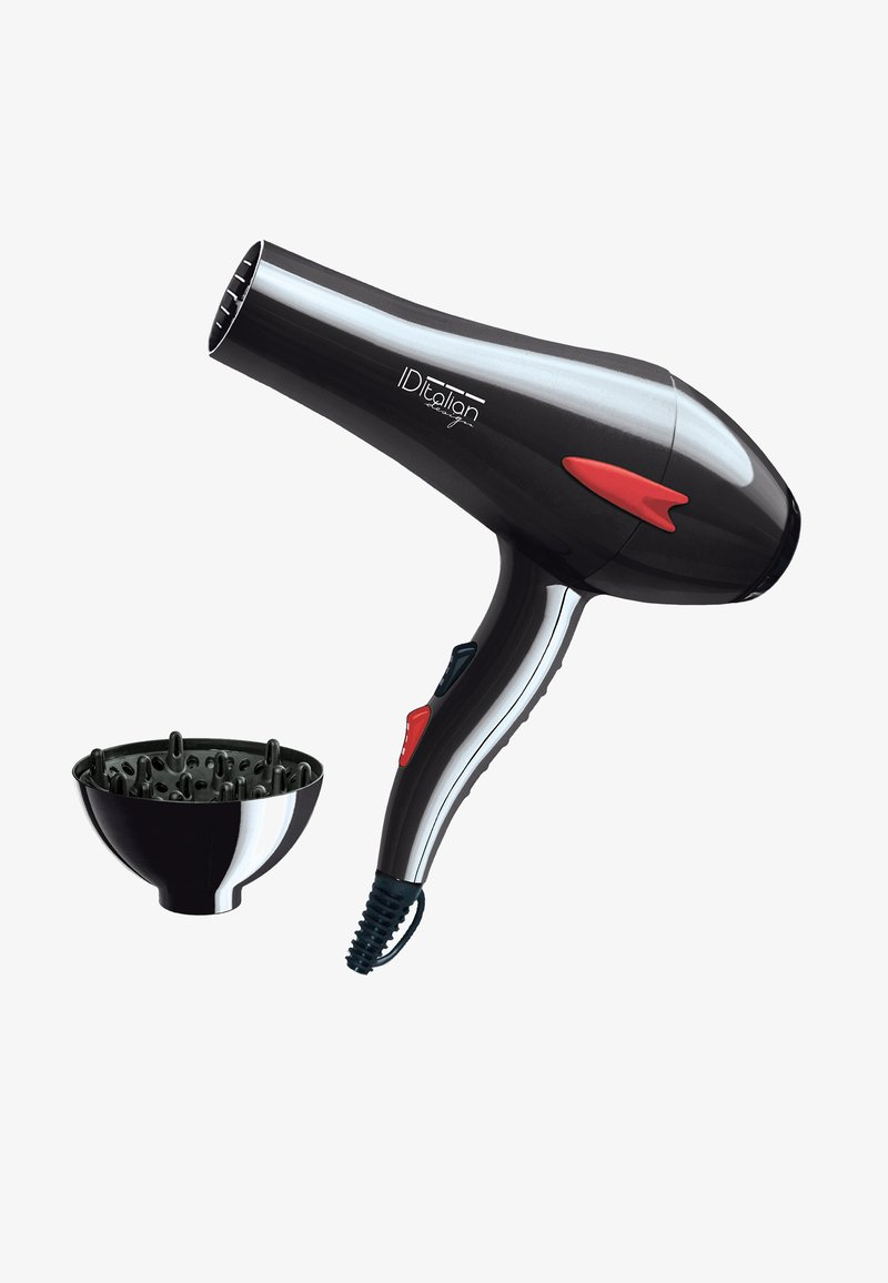 Italian Design - ELECTRICAL ITEMS GTI 2600  DRYER WITH DIFFUSOR PLUS - Hair styling accessory - black