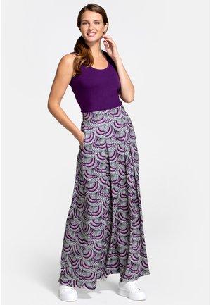 BOX - A-lijn rok - purple kimono print