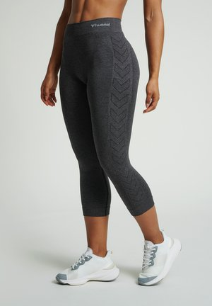 3/4 sports trousers - black melange