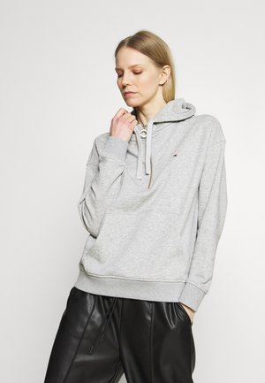 RELAXED HALF ZIP HOODIE - Sweat à capuche - light grey heather