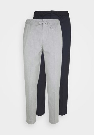 2 PACK - Trousers - navy/grey