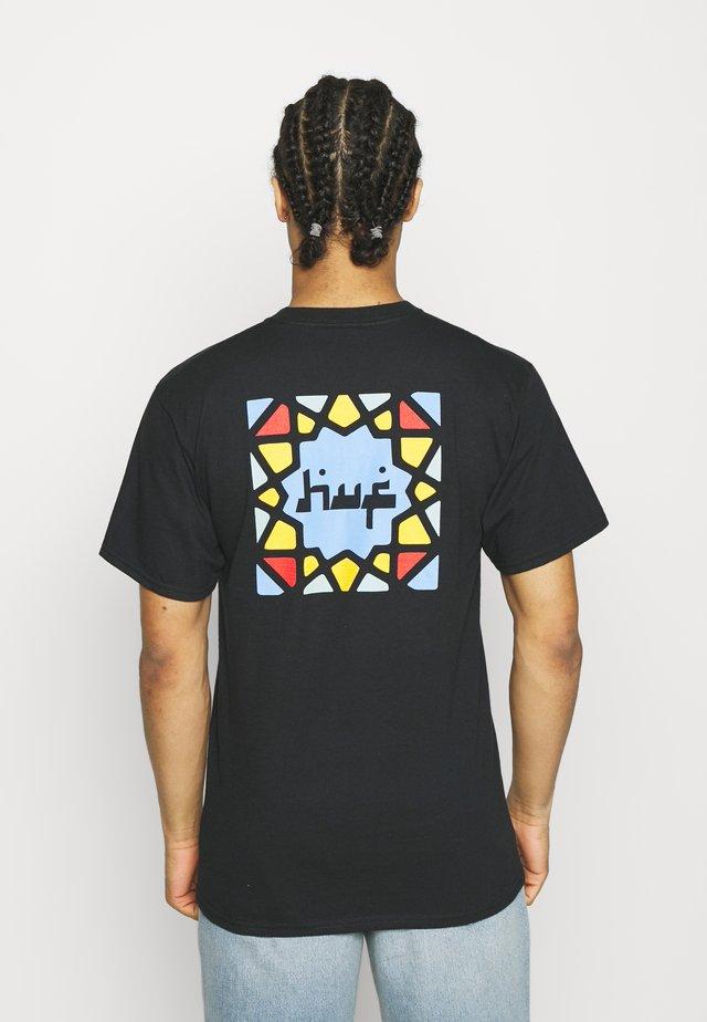 MOROCCAN TILE TEE - T-shirt imprimé - black