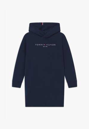 ESSENTIAL HOODED - Korte jurk - blue