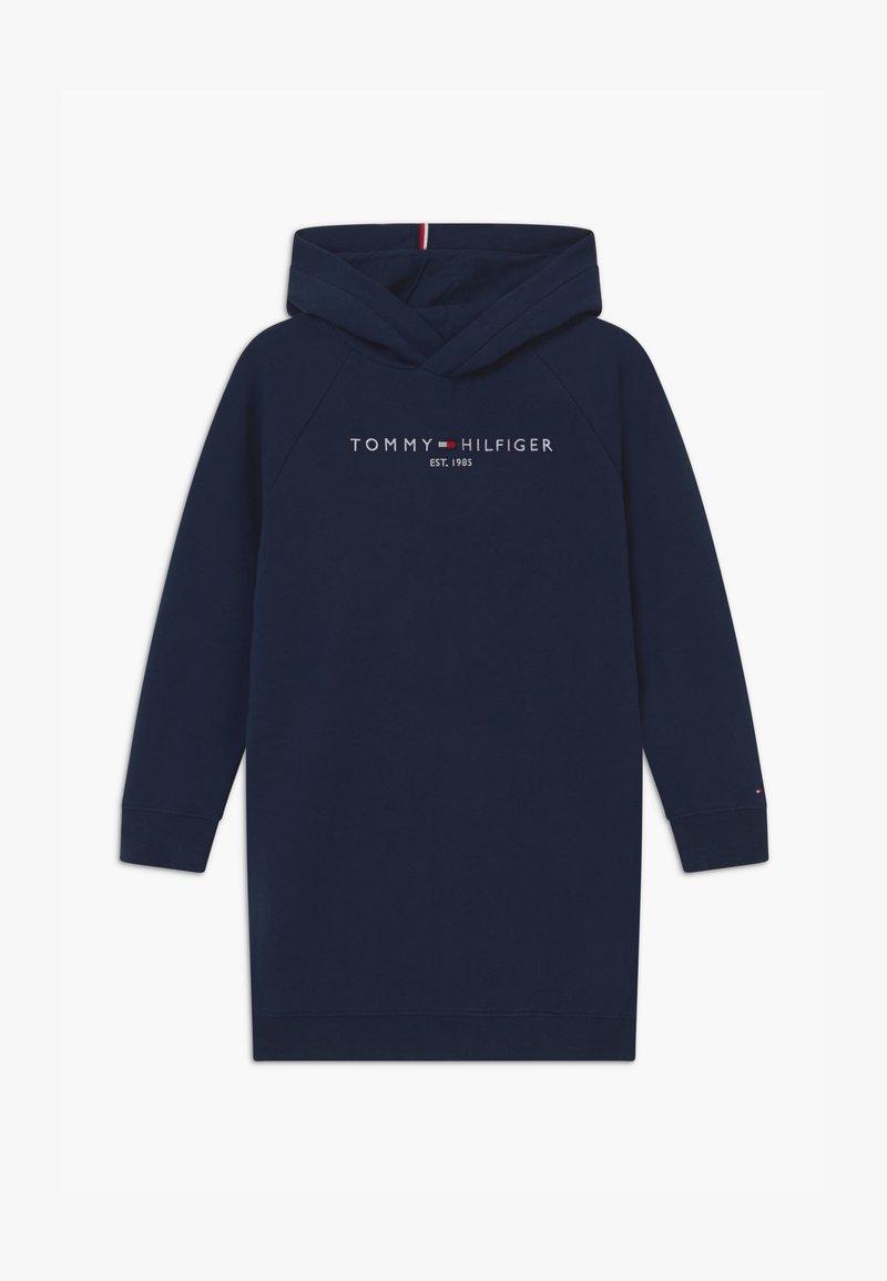 Tommy Hilfiger - ESSENTIAL HOODED - Vestido informal - blue
