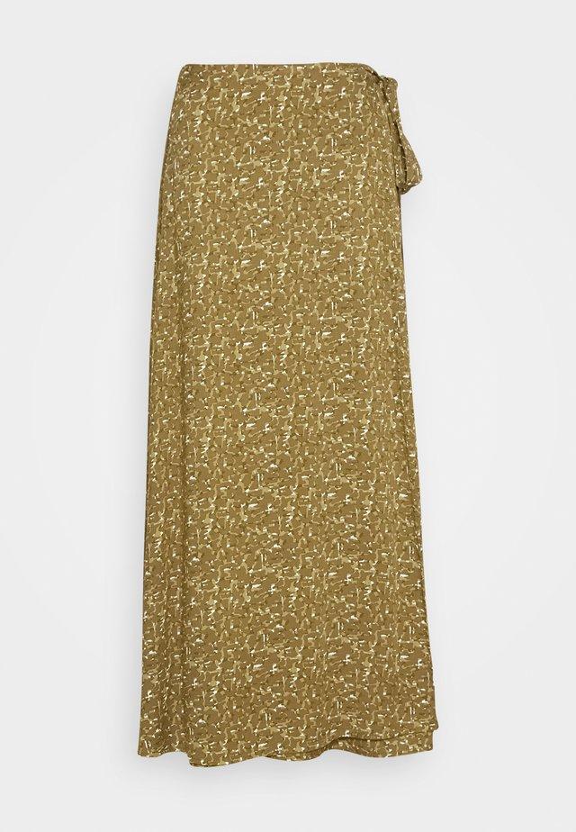 ALFINA - A-line skirt - dark olive