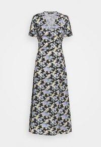 Missguided Tall - HALF BUTTON TEA DRESS - Maxi dress - black - 0