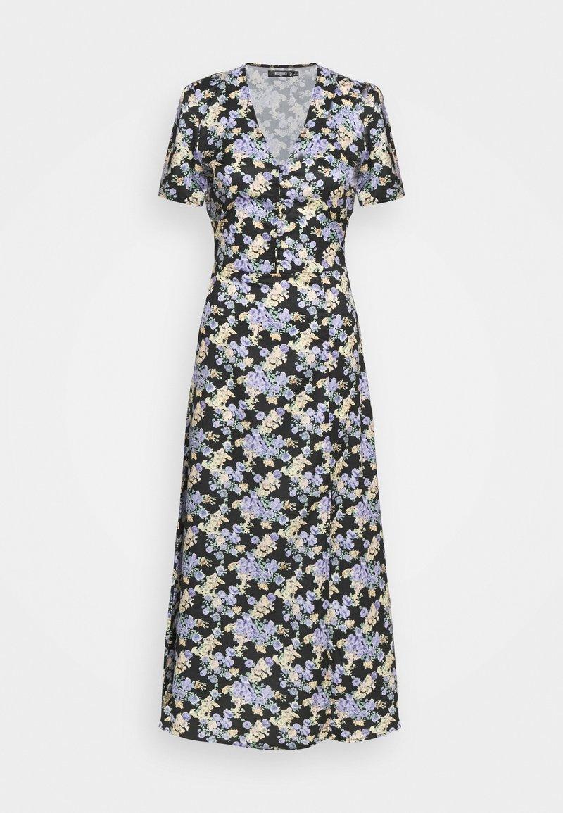 Missguided Tall - HALF BUTTON TEA DRESS - Maxi dress - black