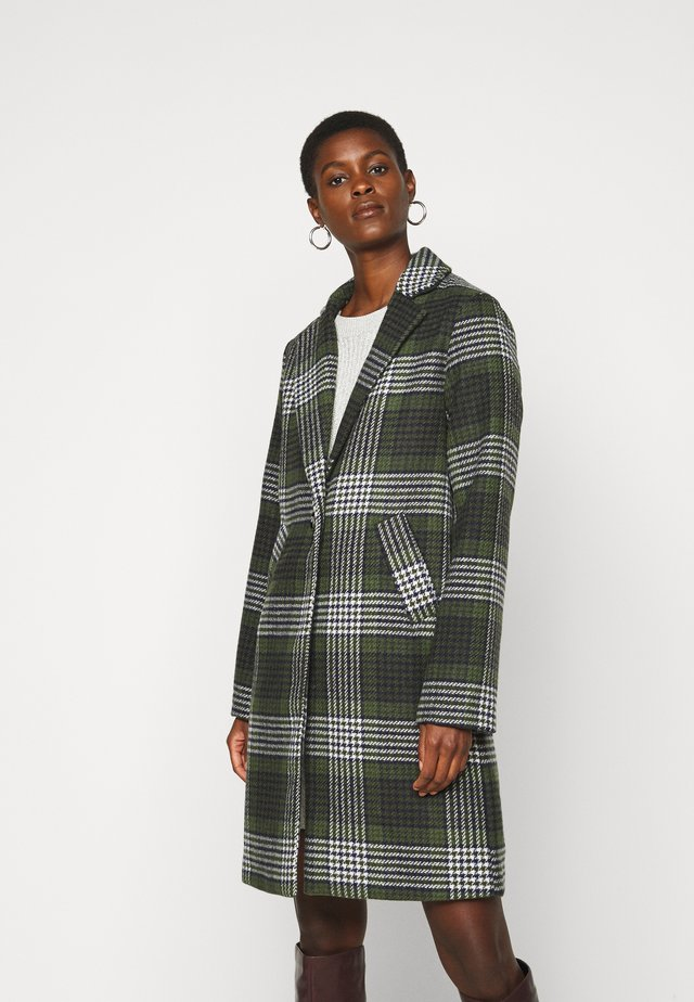 PCSIGRID COAT TALL - Abrigo - white/gray/sky captain/burnt olive
