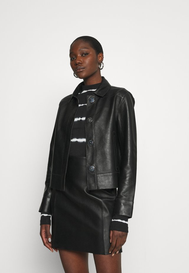 FRESH - Leather jacket - black