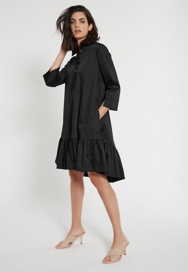 Robe chemise - schwarz