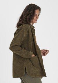 Fransa - FRMACORDUROY - Summer jacket - dark olive - 3
