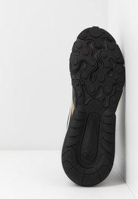 Nike Sportswear - AIR MAX 270 REACT RVL - Sneakers basse - black/light bone/khaki/metallic gold - 4