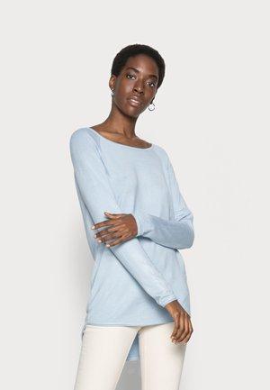 ONLMILA LACY LONG - Jumper - cashmere blue/white melange