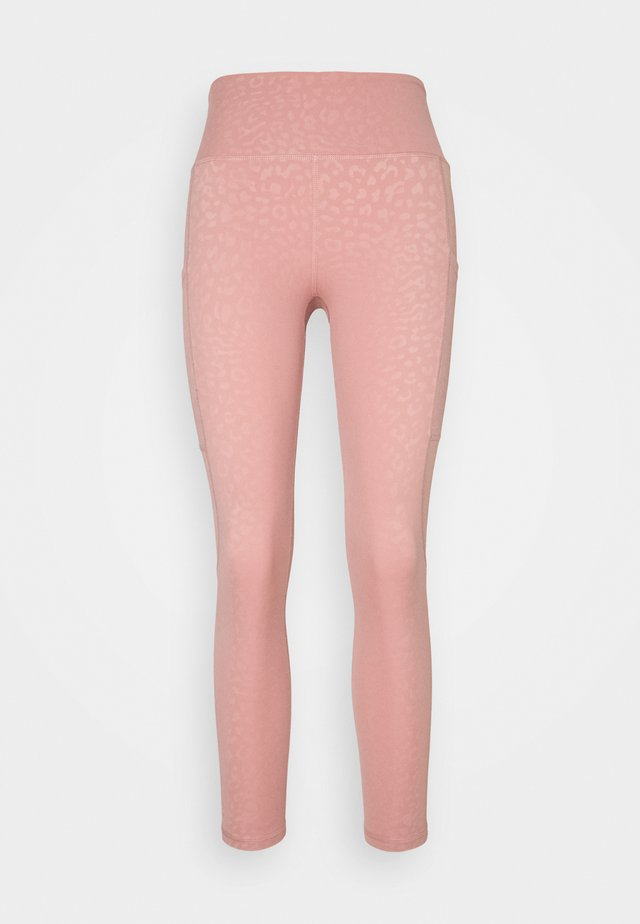 ALLURE LEOPARD 7/8 LEGGING - Trikoot - dusty rose