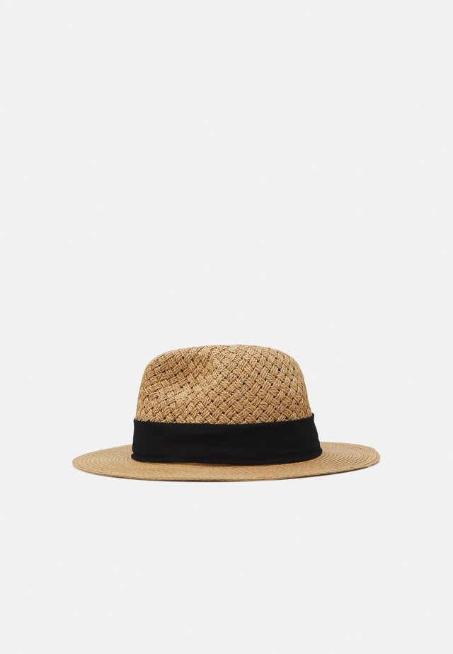 Hat - beige/black