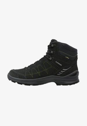 TIAGO GTX MID - Hiking shoes - anthrazit/limone