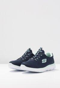 Skechers Wide Fit - SUMMITS - Trainers - navy/aqua - 4