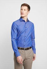 Seidensticker - SLIM FIT SPREAD KENT PATCH - Formální košile - dark blue - 0