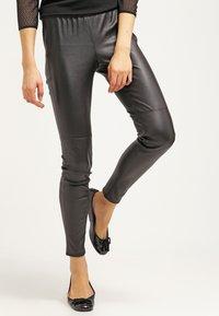 MICHAEL Michael Kors - Leather trousers - black - 3