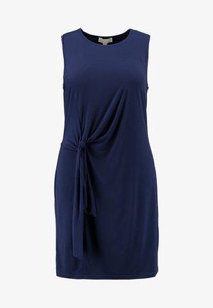 TIE WAIST CREW NECK DRESS - Jersey dress - true navy