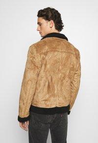 Nominal - AVIATOR  - Faux leather jacket - tan - 2